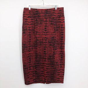 MELISSA MCCARTHY SEVEN7 Python Print Skirt Stretch